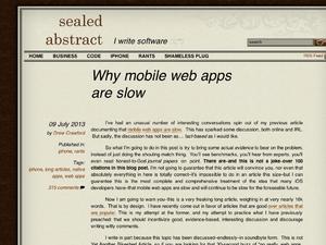 なぜモバイルWebアプリは遅いのか?
