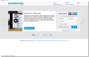 Solaborate – Social networking and collaboration platform for technology professionals and companies