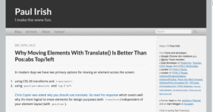 Why moving elements with translate   is better than pos abs top left   Paul Irish