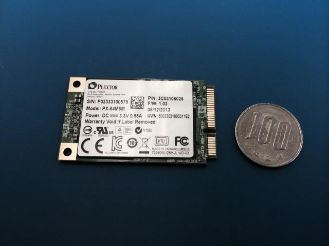 SATA SSDはこんなに小さい(別売)
