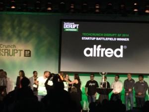 Startup Battlefieldで優勝したAlfred社