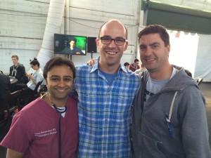 左からMETA社のToddとパートナーのStanとSri