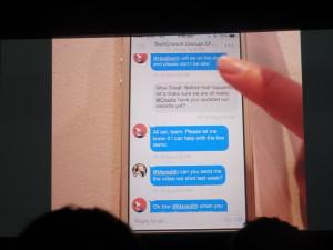 メールをメッセージ形式に変換するMailTimeのUI