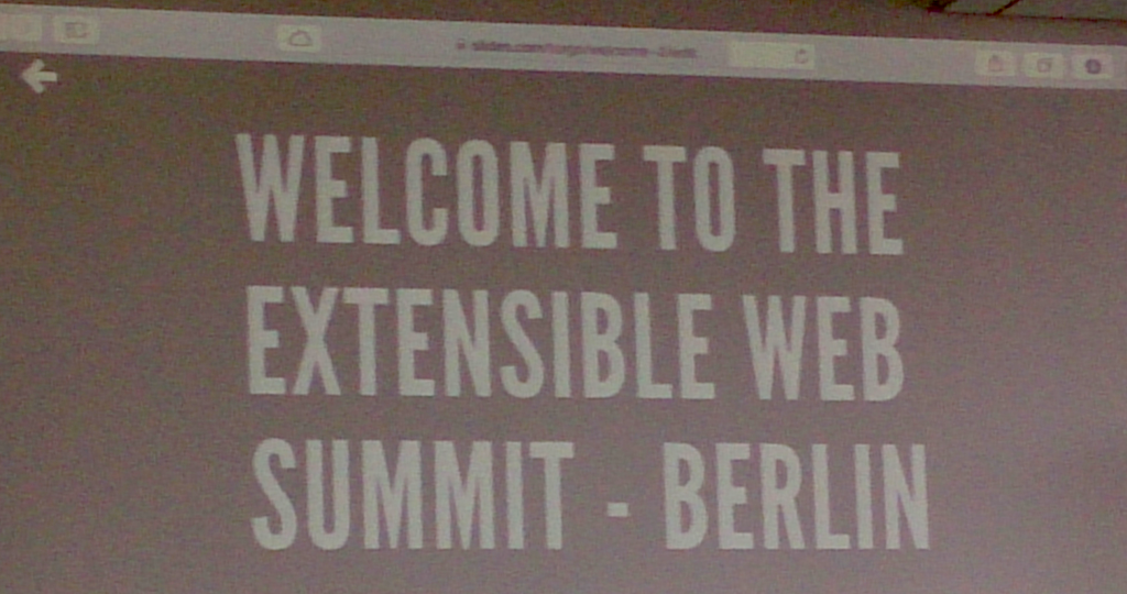 Extensible Web Summit