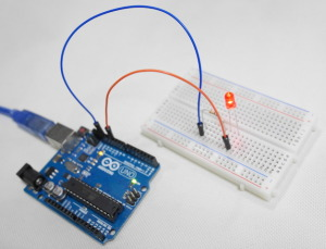 ArduinoでLチカの実行