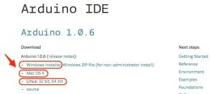 Arduino IDEのダウンロードページ